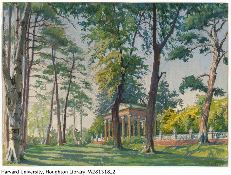 houghtonlib:  Benois, Alexandre (1870-1960), artist. Temple of the Graces.HTC 5,299Houghton Library, Harvard University