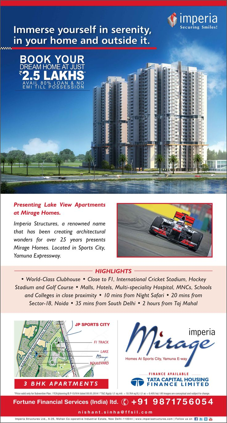 #Mirage by #Imperia at #JPsportcity is a #Lake view #Apartment close to glamorous #F1 tracks. http://snip.ly/Ydm3