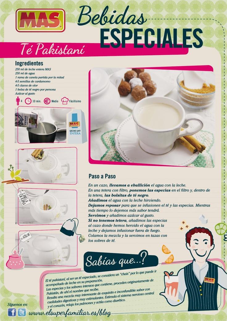 Receta para aprender a preparar té pakistani casero    #recetas #infografias #InfoRecetas