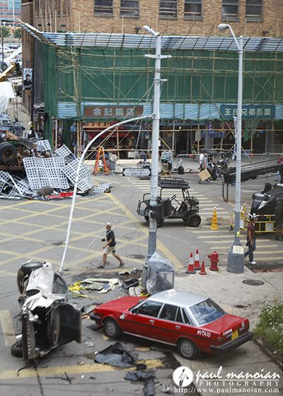 Transformers 4 movie set Behind the scenes photos from Detroit, Michigan.