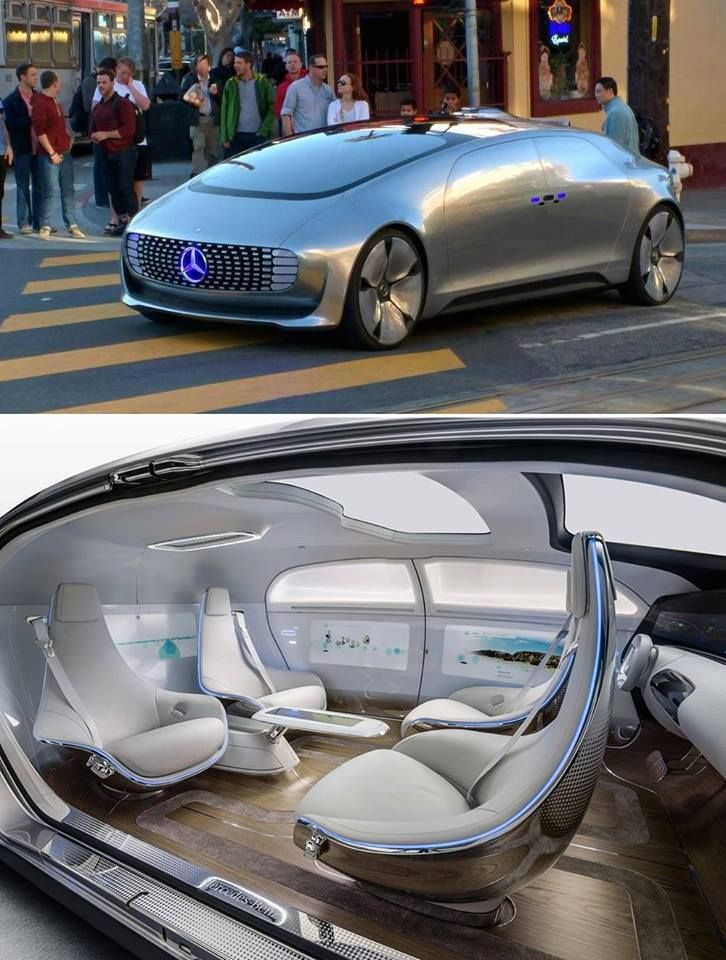 """sixpenceee: """" This driverless Mercedes has been spotted driving around San Francisco. """""""