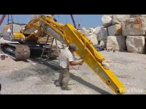 Verniciatura escavatore con pompa a membrana - YouTube