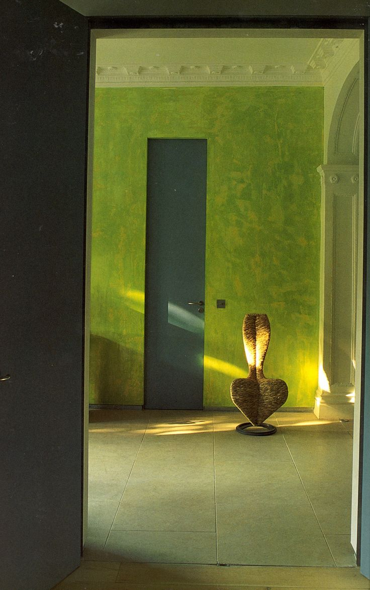 """Lime green wall featured in Tricia Guilds book """"in Town"""""""