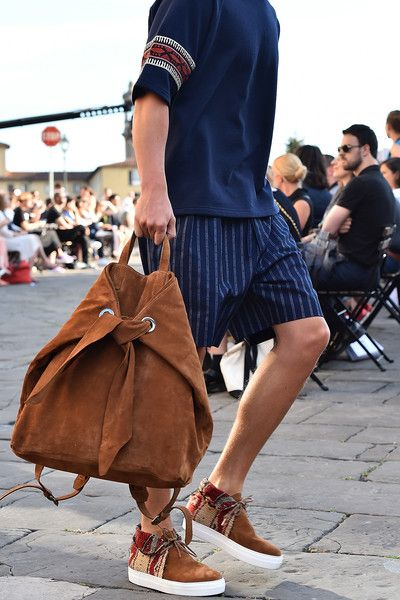 A model walks the runway during 'Ports 1961' Men's Fashion Show Spring/Summer 2016 as part of 88 Pitti Uomo on June 17, 2015 in Florence, Italy.