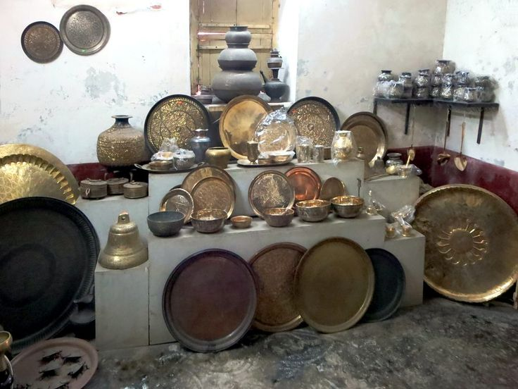 A showroom at the Dhamrai Metal Crafts Workshop at Dhamrai near Dhaka, Bangladesh.