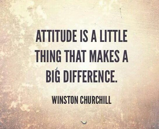 #Quote #WinstonChurchill #Attitude #Little #Thing #Makes #Big #Difference #BeBlessed