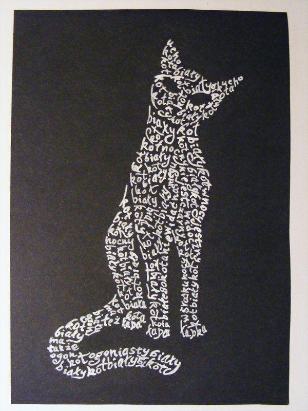 caligrafía gatos diseño grafico - Buscar con Google