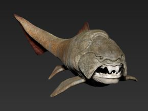 Dunkleosteus middle size(color) in Coated Full Color Sandstone
