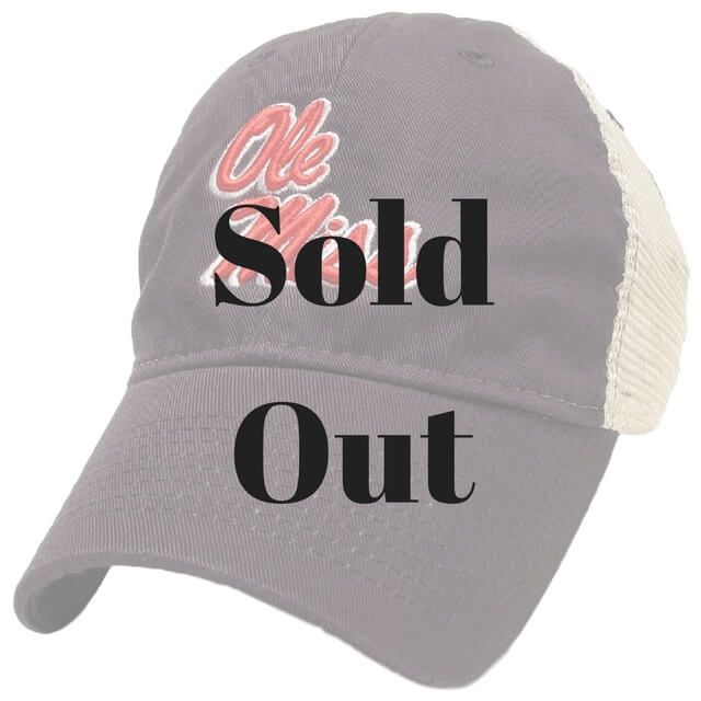 Have your Rebel pride on full display when you finish any look with the Ole Miss Navy Blue Trucker Hat. Designed to look like the Ole Miss football helmets!