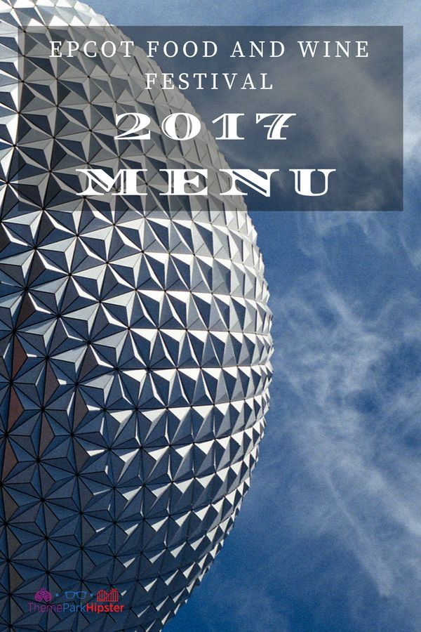 Epcot Food and Wine Festival marketplace menus.