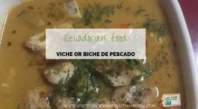 Viche or biche de pescado is a hearty fish soup traditional from #Manabi province in the Coastal region of #Ecuador.