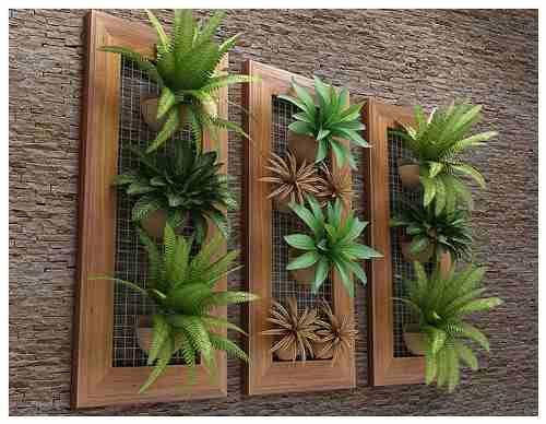 painel com plantas artificiais - Google Search