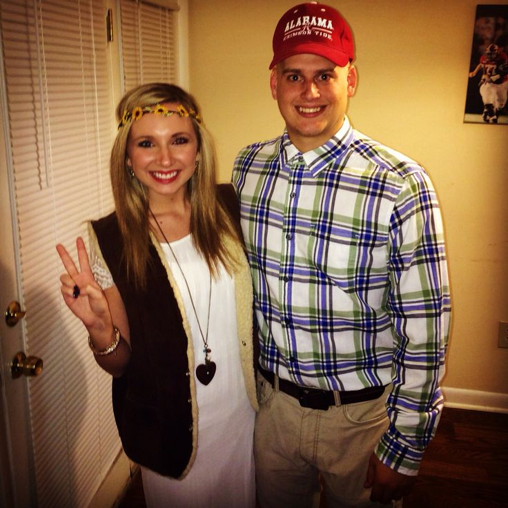 Forrest Gump and Jenny halloween couples costume idea #halloween #couplescostume #forrestgump #funny #couples #costume