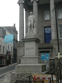Humphry Davy -  A statue of Davy stands in Penzance, Cornwall; he holds his safety lamp in his right hand.