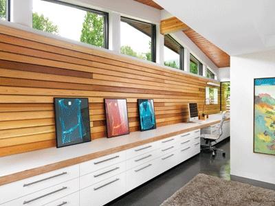 serene workspace.    west coast {north vancouver} renovation.  design - michael green architecture  photography - martin tessler    via western living magazine