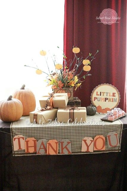 "Photo 1 of 28: Baby Shower/Sip & See ""Our Little Pumpkin Baby Shower"" 