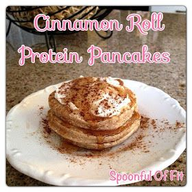 Spoonful Of Fit: Cinnamon Roll Protein Pancakes