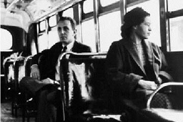 Rosa Parks: Most historians date the beginning of the modern civil rights movement in the United States to December 1, 1955. That was the day when an unknown seamstress in Montgomery, Alabama refused to give up her bus seat to a white passenger. This brave woman, Rosa Parks, was arrested and fined for violating a city ordinance, but her lonely act of defiance began a movement that ended legal segregation in America, and made her an inspiration to freedom-loving people everywhere.