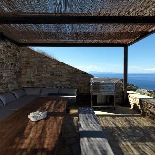 A pared-down #outdoor #veranda #design