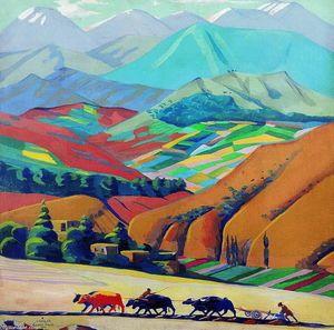 Mountais - (Martiros Saryan)