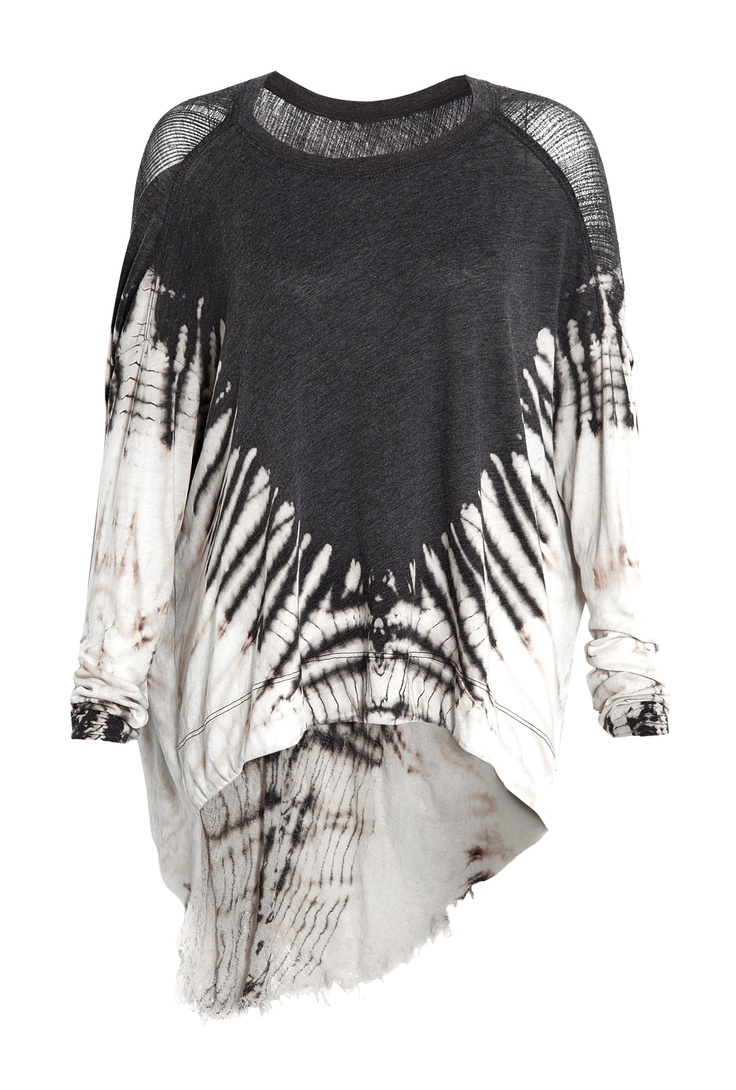 Deconstructed Jersey Cocoon Tie Dye Top by Raquel Allegra
