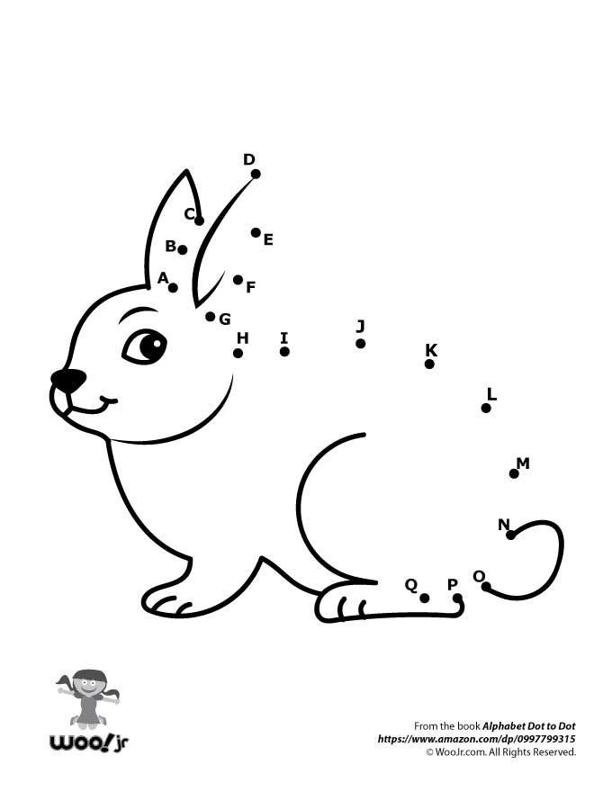 Printable Alphabet Dot To Dot Worksheets Woo Jr Kids Activities Dot Worksheets Fun Worksheets For Kids Kids Worksheets Printables
