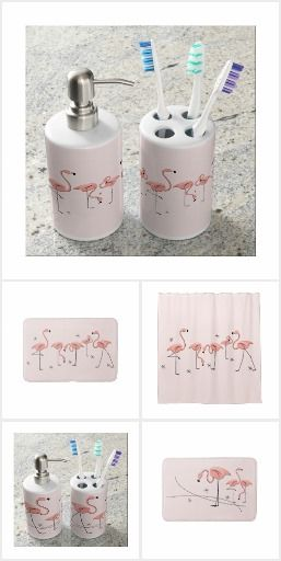 3024 best flamingo stuff images on pinterest pink flamingos flamingo art and flamingos for Flamingo bathroom accessories set