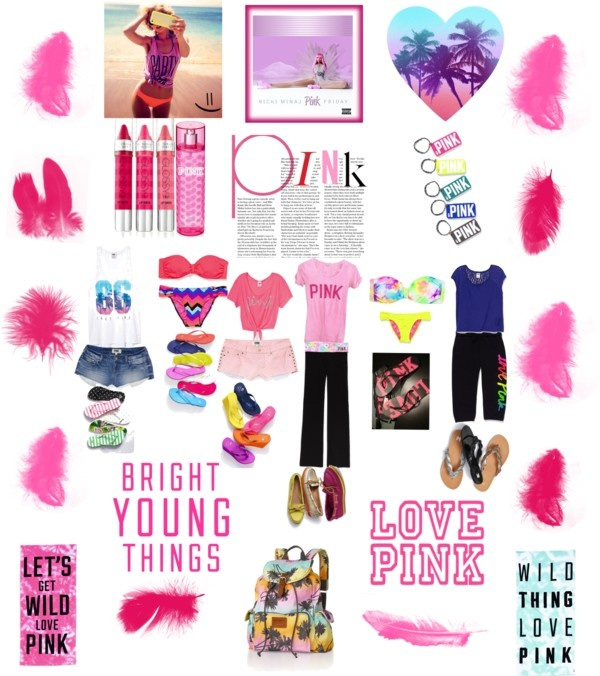 """Victoria's Secert PINK!:)"" by hottyklynae900 ❤ liked on Polyvore"