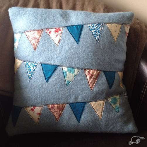 Blue Bunting Blanket Cushion | Trade Me