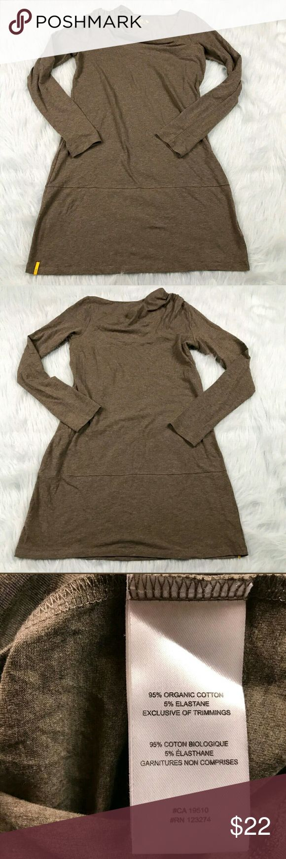 """Lole Tunic Faux Wrap Shoulder Dress Lole gray faux wrap shoulder long sleeve tunic dress. Womens size Medium. Gently used, without flaws. See pictures for details.  Armpit to Armpit - 17"""" Length - 34""""  Inventory 04262017 Lole Dresses"""