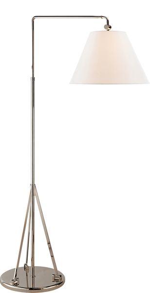 Brompton swing arm floor lamp