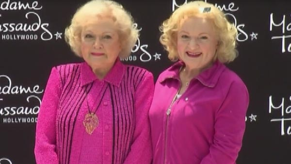 """HOLLYWOOD (CNN) - Betty White was on hand Monday when her wax figure was unveiled at Madam Tussaud's Wax Museum. The former """"Golden Girl"""" was thrilled with the honor."""
