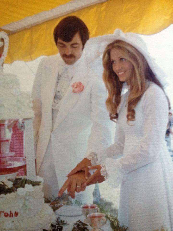 1970s •~• wedding couple, 1976
