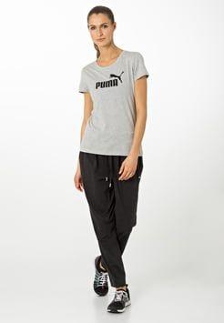 Puma - T-shirts print - light gray heather/black