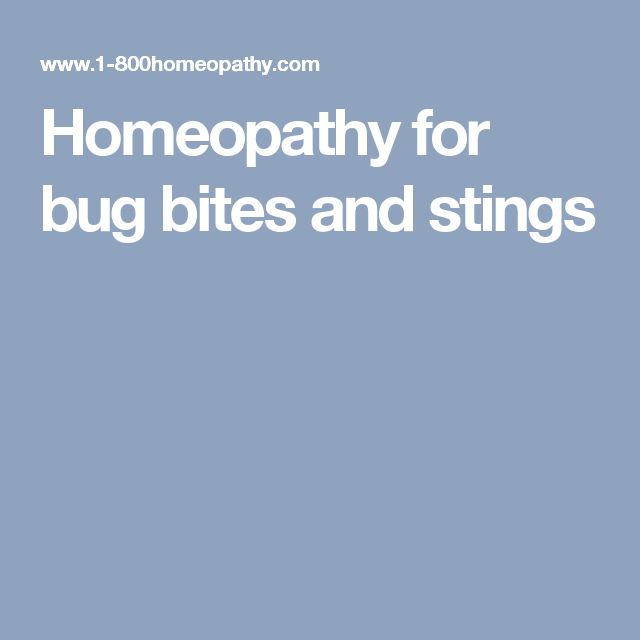 Homeopathy for bug bites and stings
