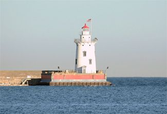 Harbor Beach Lighthouse, Michigan at Lighthousefriends.com