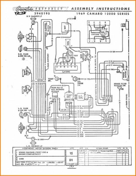 69 Camaro Wiring Diagram  With Images