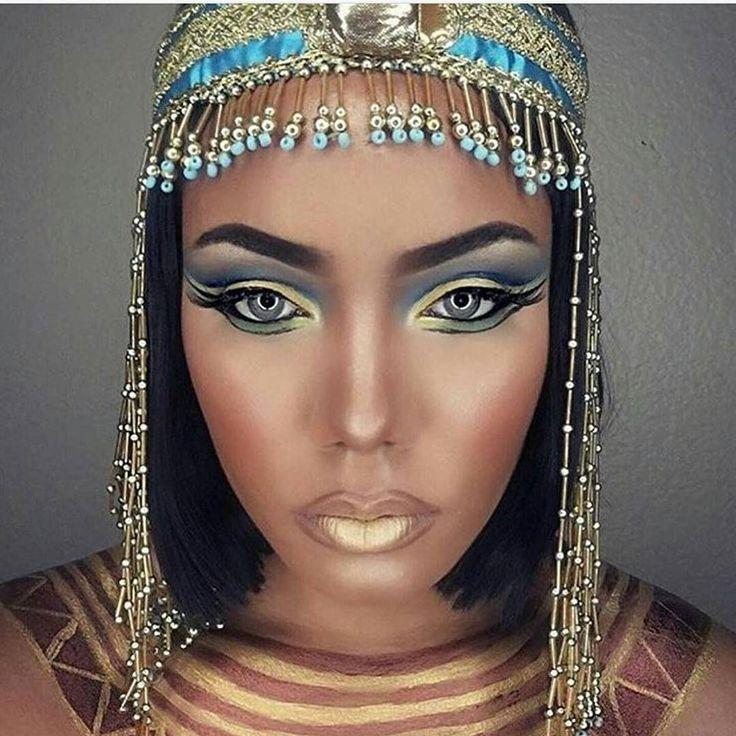 #halloweenmakeup for the gods! Badass Cleopatra makeup by @joleanmua!