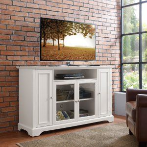 White TV Stands on Hayneedle - White Finish TV Consoles
