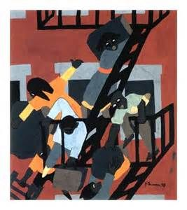 By Jacob Lawrence Brownstones - Bing Images