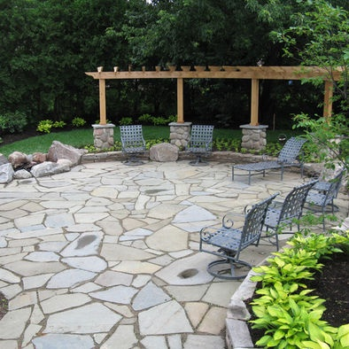 59 best images about Stone Patio Ideas on Pinterest ... on Stepping Stone Patio Ideas id=38387