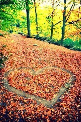 Photo idea for autumn <3 just needs your babies in the middle of the heart.