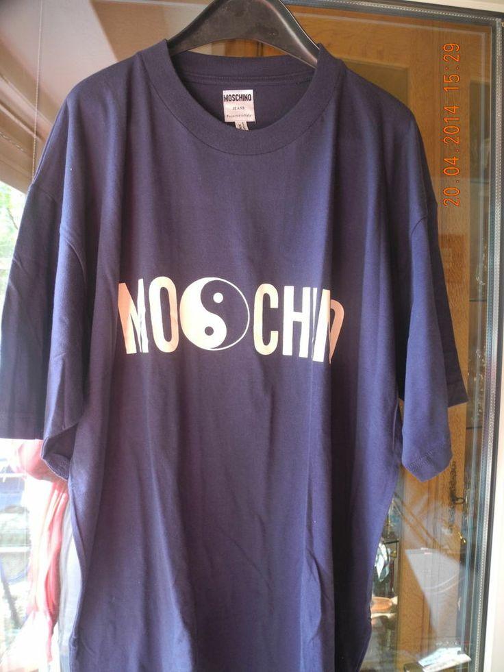 MOSCHINO  T-SHIRT dunkelblau XXL  http://www.ebay.de/itm/MOSCHINO-T-SHIRT-dunkelblau-XXL-/271462241371?pt=DE_Herren_s_Freizeithemden_Shirts&hash=item3f3469145b