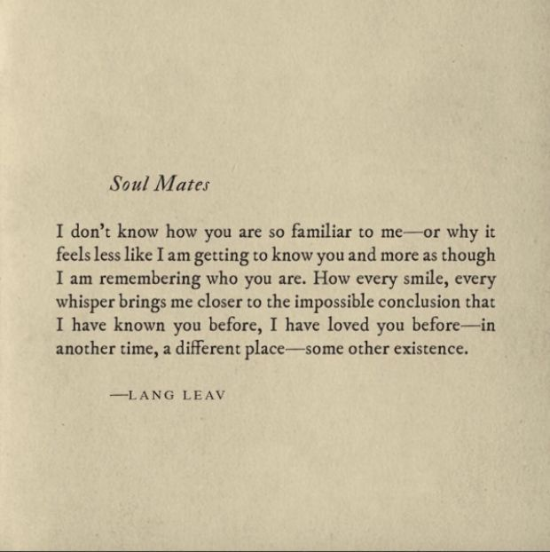 "Soulmate Quotes : 20 Lang Leav Instagram Poems That Redefine The Word ""Love"""