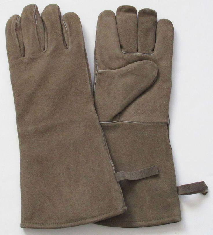 Fire Tending Suede Leather Gloves Insulated Heavy NIB #Sundance #FireTendingGloves