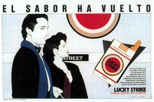 Patrick Nagel for Lucky StrikeFavourite Art, Lucky Strike, Picture-Black Posters, Patrick Nagel, Nagel Lucky, Patricks Nagel, Strike Posters