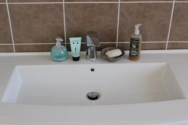 Sur mon lavabo