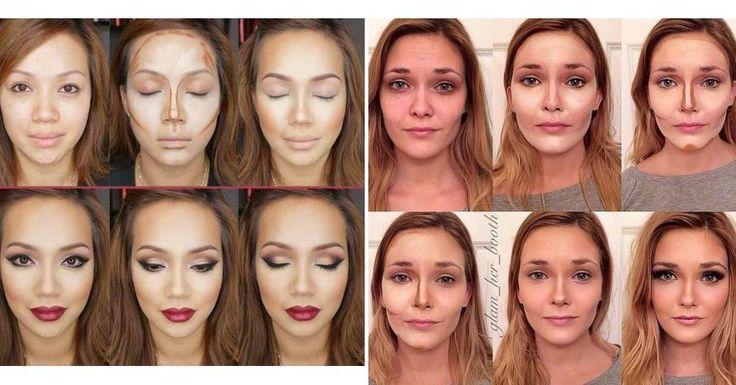 Maquillaje con contorno o cotouring, ¡antes y después!