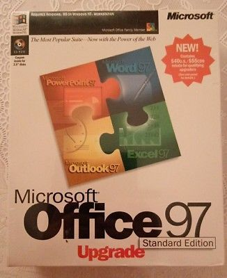 Microsoft Office 97 Standard Edition Upgrade - NEW never opened, still sealed