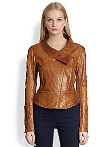 Donna Karan - Vintage-Style Leather Jacket